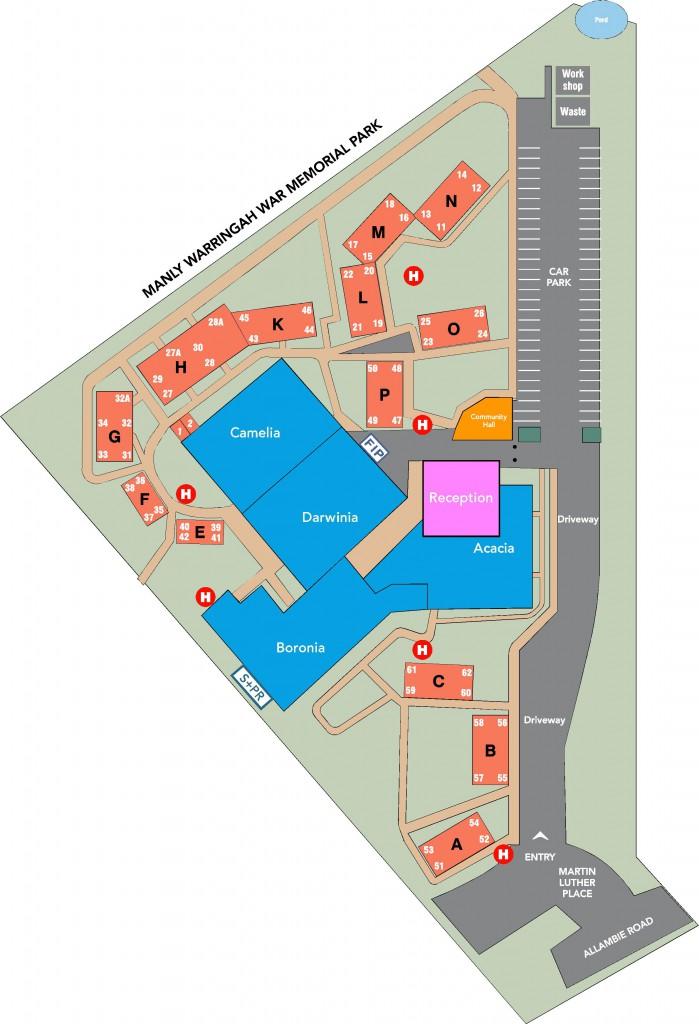 Allambie Heights Village Map