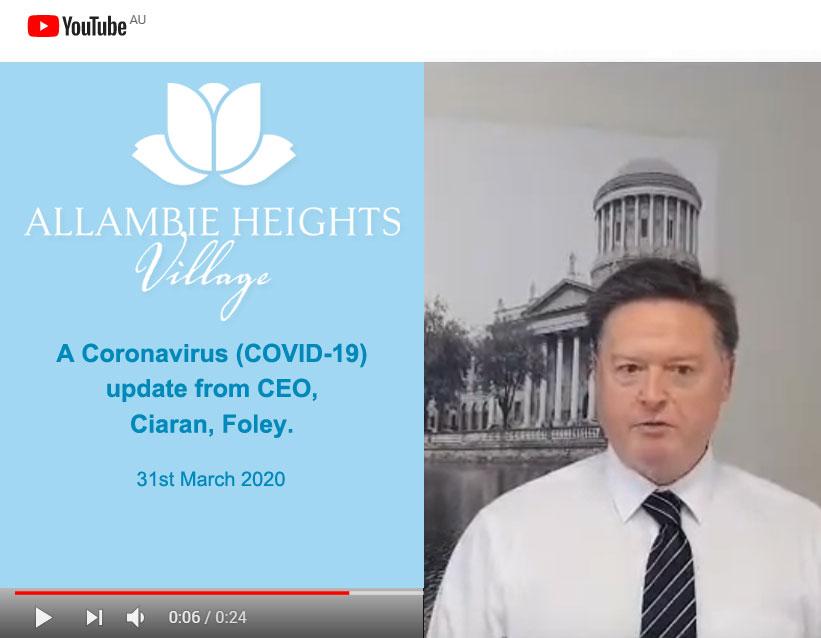 allambie heights village coronavirus update