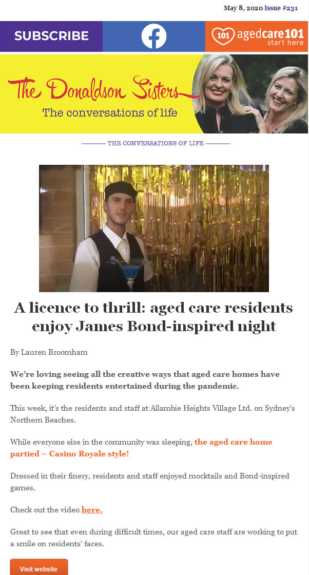 aged care residents party during covid-19